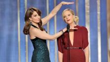 Hosts Tina Fey, Amy Poehler on stage during the 70th Annual Golden Globe Awards held at the Beverly Hilton Hotel on January 13, 2013 . - Provided courtesy of NBC, Paul Drinkwater