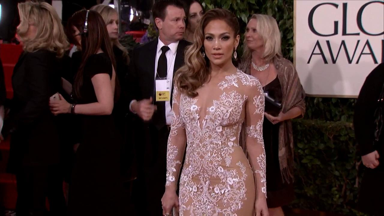 Jennifer Lopez appears at the 2013 Golden Globe Awards in Beverly Hills, California on Jan. 13, 2013.