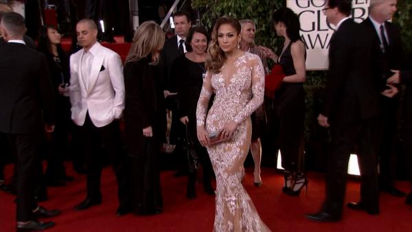 Jennifer Lopez appears at the 2013 Golden Globe Awards in Beverly Hills, California on Jan.