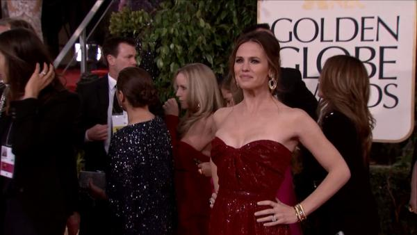 Jennifer Garner appears at the 2013 Golden Globe Awards in Beverly Hills, California on Jan. 13, 2013.