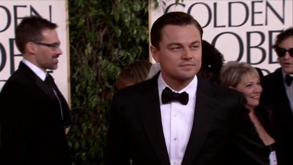 Leonardo DiCaprio appears at the 2013 Golden Globe Awards i