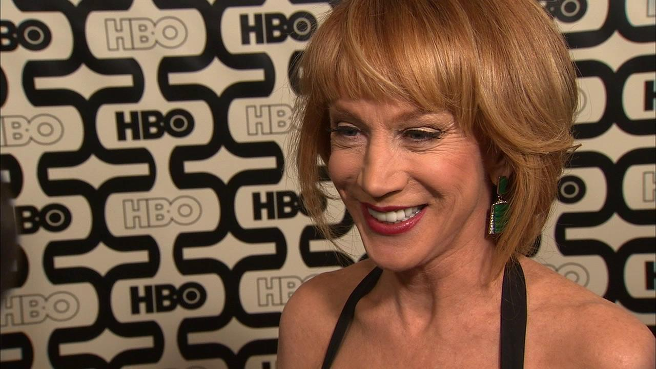 Kathy Griffin talks to OTRC.com at HBOs Golden Globes after party on Jan. 13, 2013.