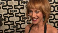 Kathy Griffin talks to OTRC.com at HBOs Golden Globes after party on Jan. 13, 2013. - Provided courtesy of OTRC