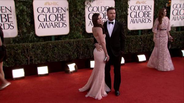 Megan Fox and husband Brian Austin Green appear at the 2013 Golden Globe Awards in Beverly Hills, California on Jan. 13, 2013. - Provided courtesy of OTRC