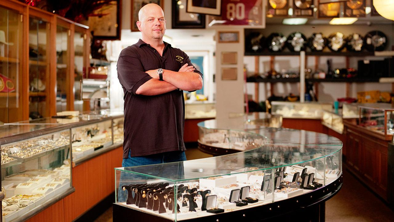 Rick Harrison appears in a publicity photo for the History Channel series Pawn Stars.History Channel