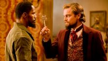 Jamie Foxx and Leonardo DiCaprio appear in a scene from the 2012 movie Django Unchained.