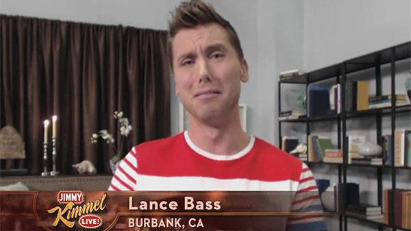 Lance Bass appears on ABCs Jimmel Kimmel Live! on Jan. 17, 2013. - Provided courtesy of ABC