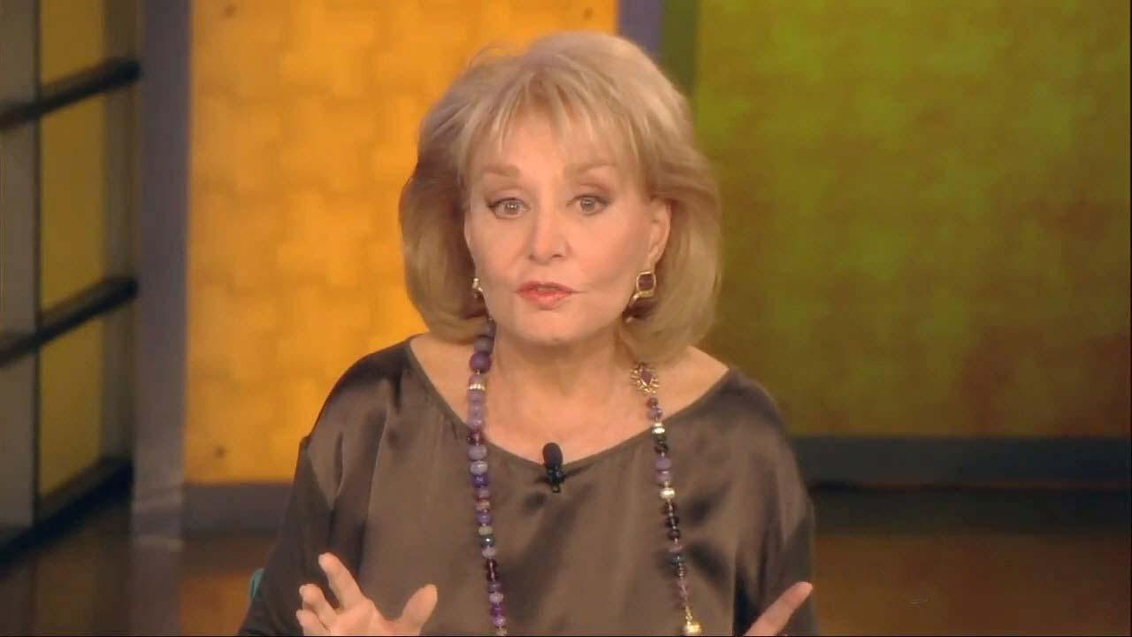 Barbara Walters appears in an undated photo from her ABC talk show, The View.