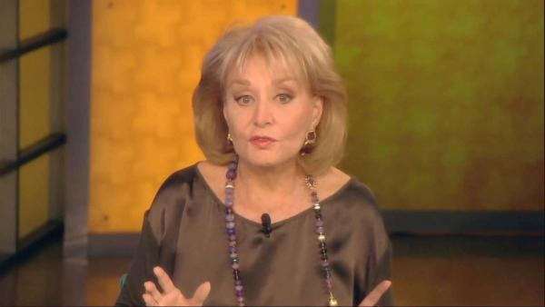 Barbara Walters appears in an undated photo from her ABC talk show, The View. - Provided courtesy of ABC