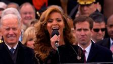 Beyonce performs the national anthem after President Barack Obamas ceremonial swearing-in ceremony during the 57th Presidential Inauguration. - Provided courtesy of ABCNews