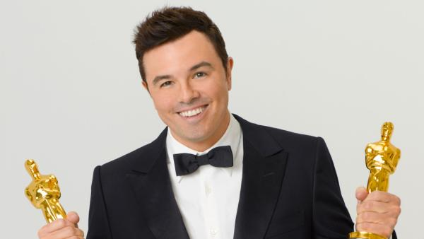 Seth MacFarlane appears in a promotional photo for the 2013 Oscars.