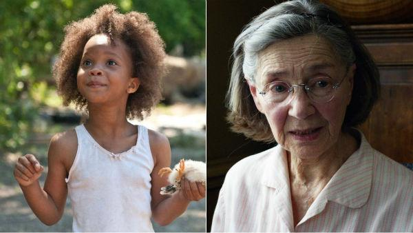 Quvenzhane Wallis appears in a scene from 'Beasts of the Southern Wild.'  / Emmanuelle Riva appears in a scene from 'Amour.'