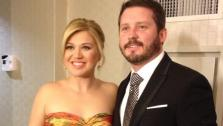 Kelly Clarkson wore this strapless Oscar de la Renta floral gown to the Inaugural Ball honoring President Barack Obama on Jan. 21, 2013. She attended with her fiance, Brandon Blackstock. - Provided courtesy of pic.twitter.com/6cl1l