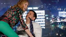 Nicole Kidman gives Jimmy Kimmel a lap dance on Jimmy Kimmel Live! on Jan. 24, 2013. - Provided courtesy of Randy Holmes / ABC