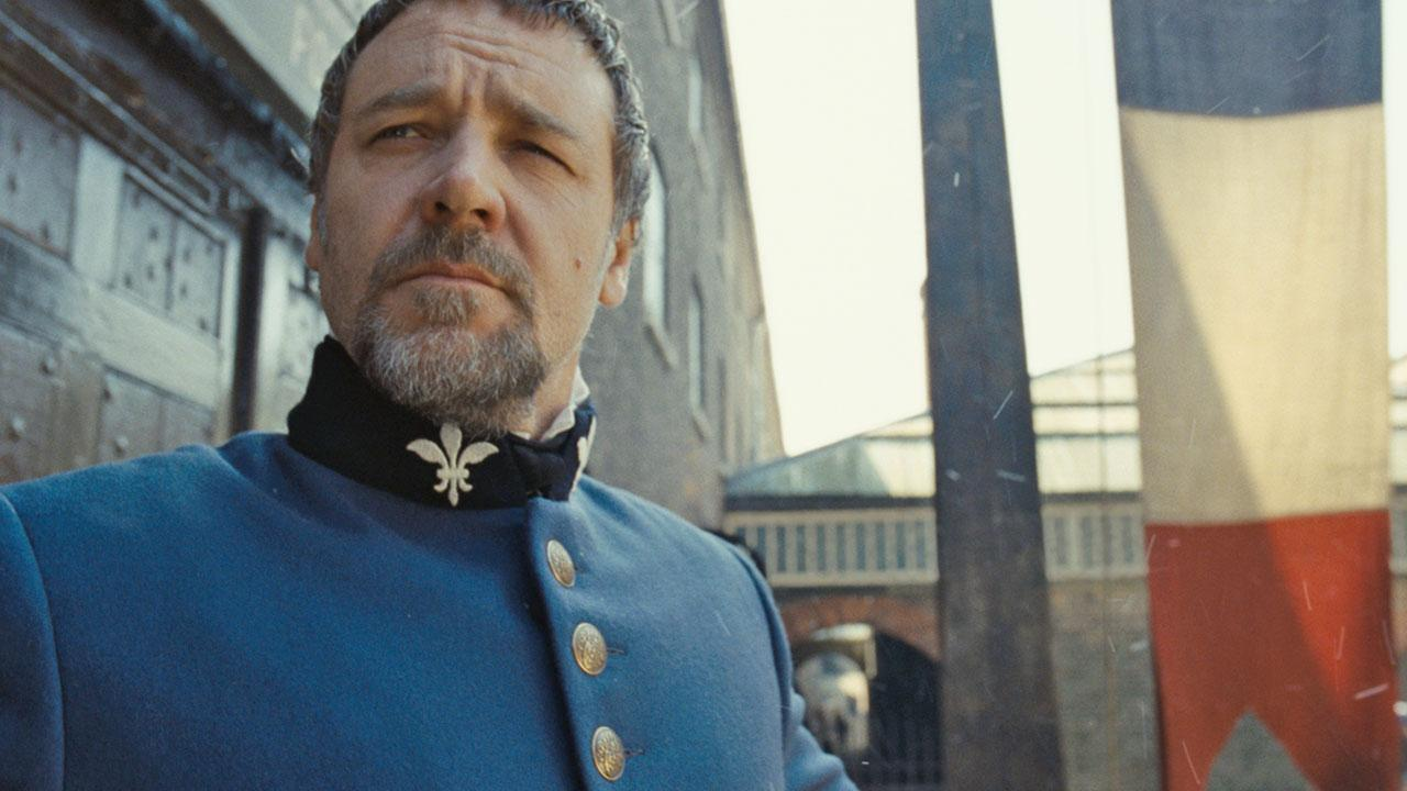Russell Crowe appears as Javert in a scene from the 2012 movie Les Miserables.