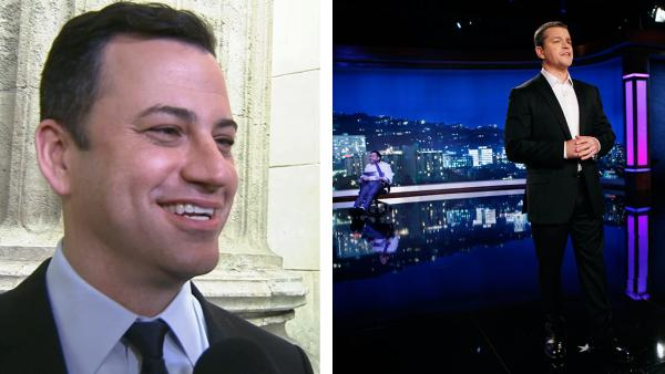 Jimmy Kimmel talks Matt Damon hijacking