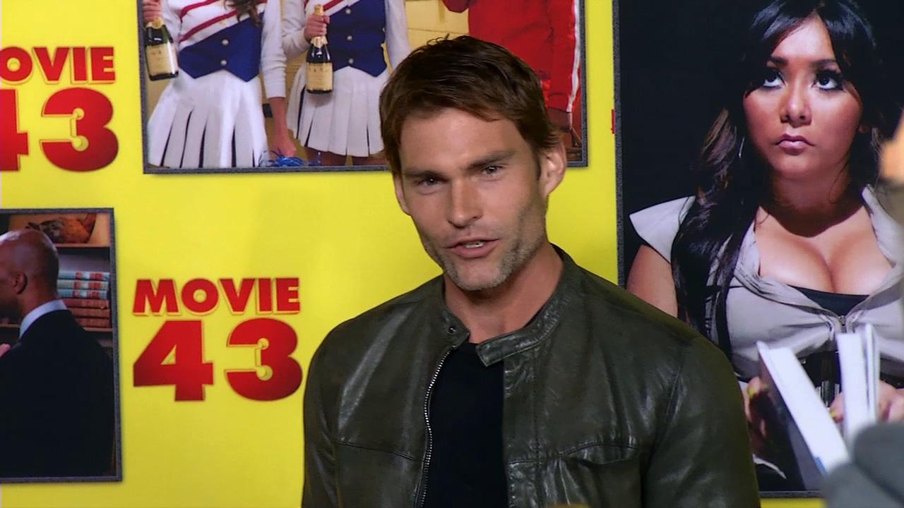 Seann William Scott talks to OTRC.com at the premiere of Movie 43 in Los Angeles on Jan. 23, 2013.