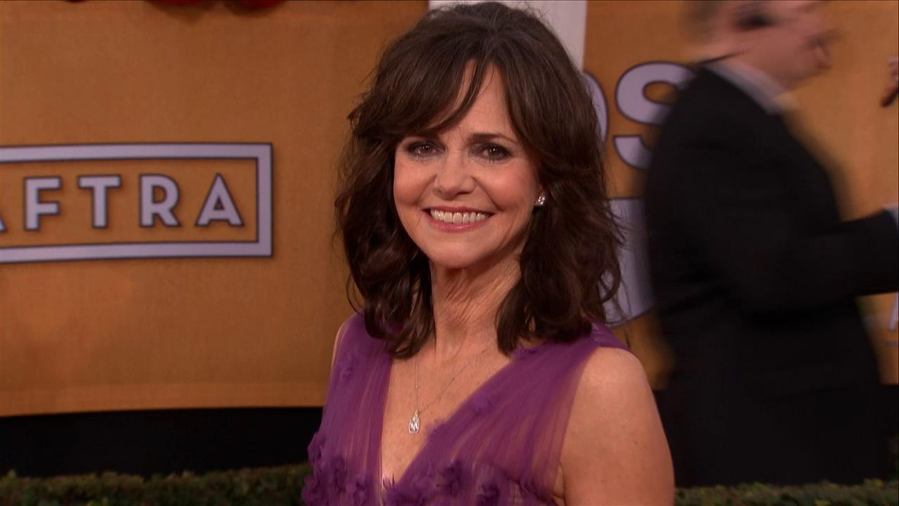 Sally Field poses on the red carpet at the 2013 SAG Awards in Los Angeles on Jan. 27, 2013.