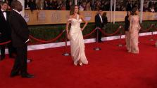 Sofia Vergara (Modern Family) poses on the red carpet at the 2013 SAG Awards in Los Angeles on Jan. 27, 2012. - Provided courtesy of OTRC