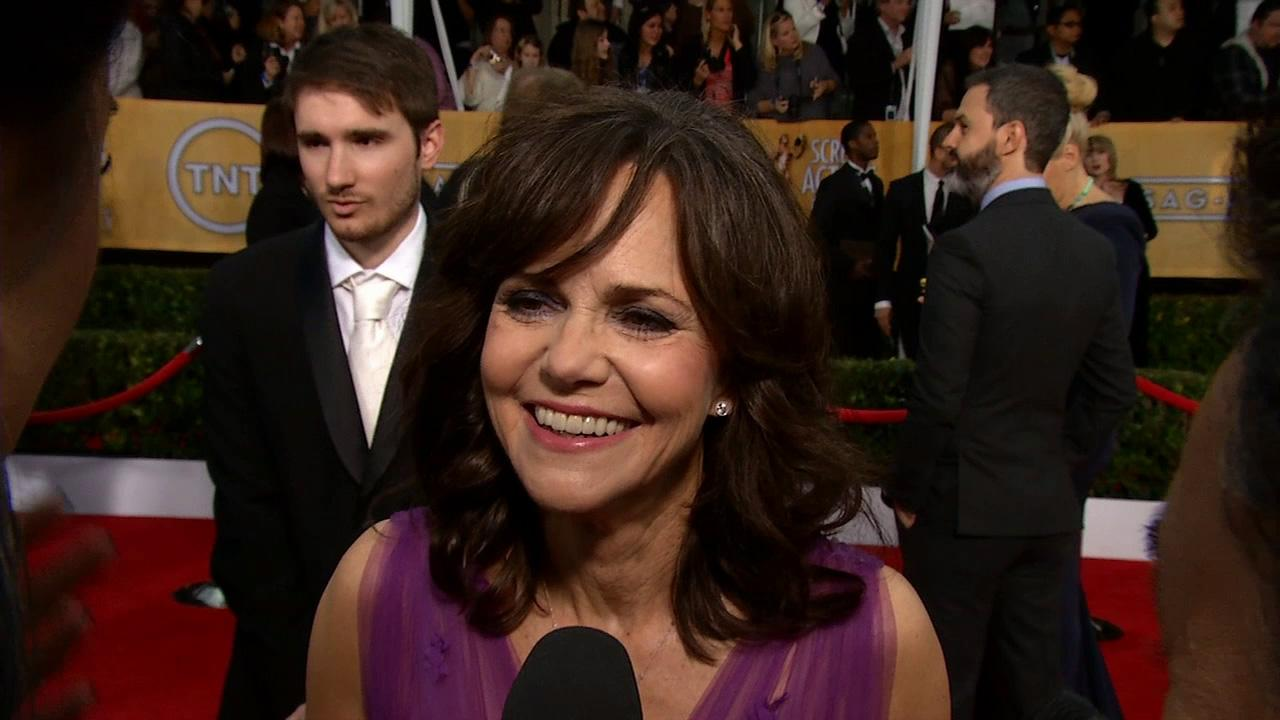 Sally Field talks to OTRC.com at the 2013 SAG Awards in Los Angeles on Jan. 27, 2012.
