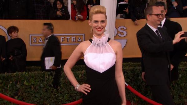 January Jones on the red carpet at the 2013 SAG Awards