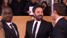 Ben Affleck and John Krasinki appear on the red carpet at the 2013 SAG Awards in Los Angeles on Jan. 27, 2012. - Provided courtesy of OTRC
