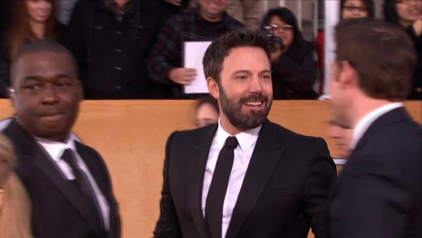 Ben Affleck and John Krasinki appear on the red carpet at the 2013 SAG Awards in Los Angeles on Jan. 27, 2012.