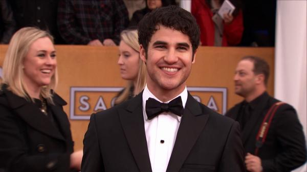 Darren Criss on the red carpet at the 2013 SAG Awards
