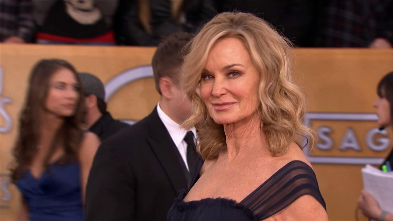 Jessica Lange poses on the red carpet at the 2013 SAG Awards in Los Angeles on Jan. 27, 2012.