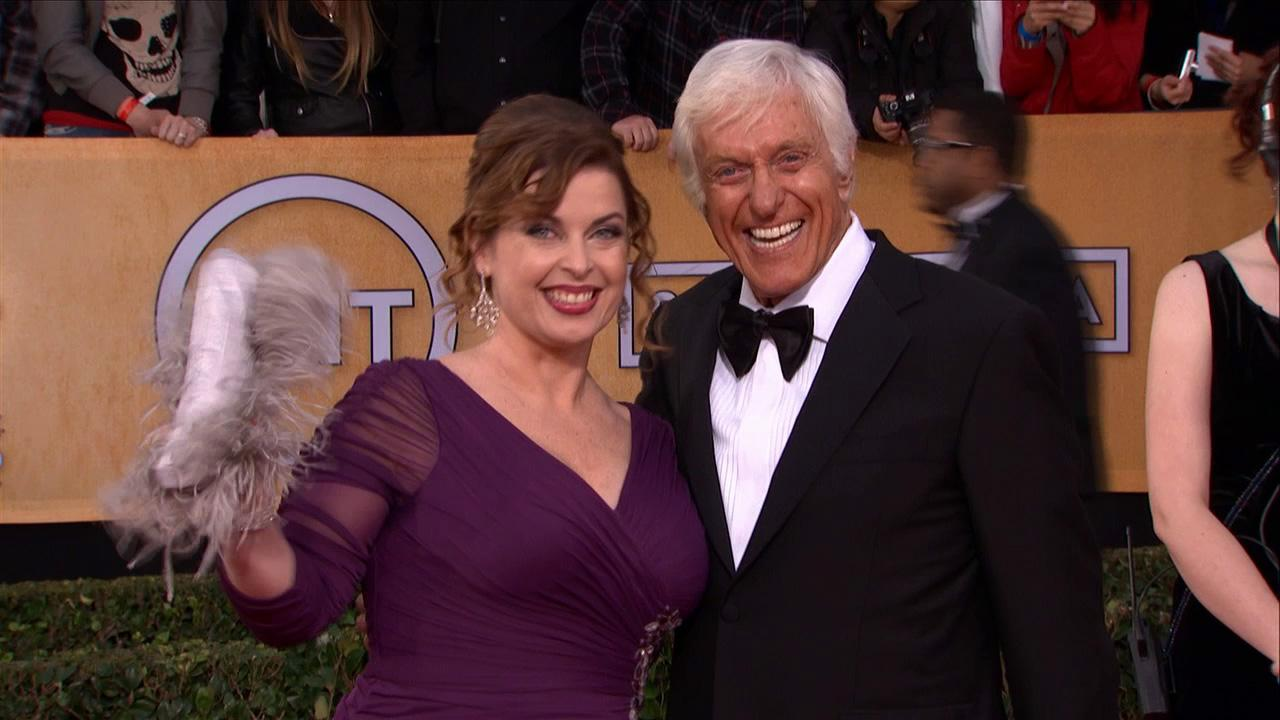 Dick Van Dyke, 87, and his wife, Arlene Silver,41, pose on the red carpet at the 2013 SAG Awards in Los Angeles on Jan. 27, 2012.