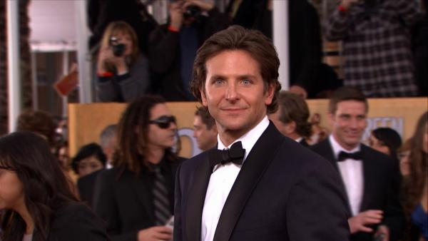 Bradley Cooper poses on the red carpet at the 2013 SAG Awards in Los Angeles on Jan. 27, 2012.