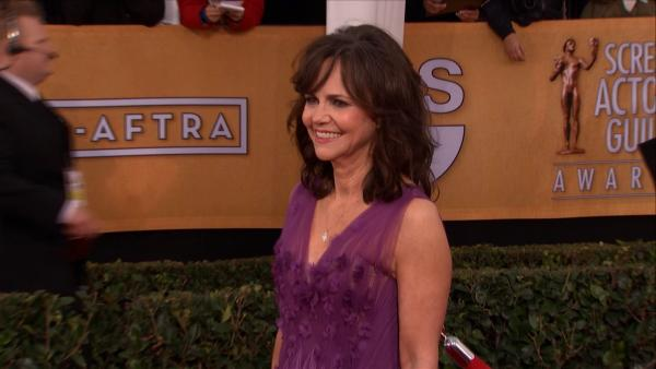 Sally Field poses on the red carpet at the 2013 SAG Awards in Los Angeles on Jan. 27, 2012.