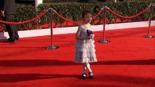 Aubrey Anderson-Emmons (Lily on Modern Family) poses on the red carpet at the 2013 SAG Awards in Los Angeles on Jan. 27, 2012. - Provided courtesy of OTRC