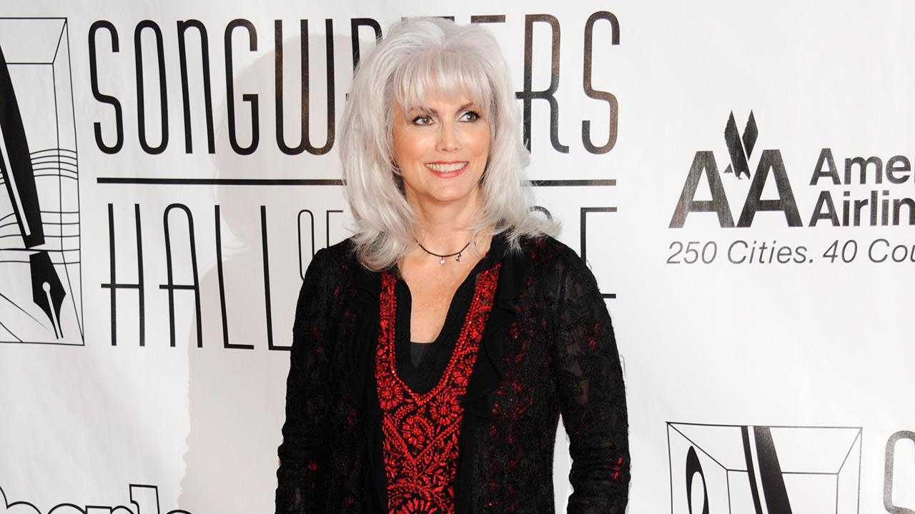 Emmylou Harris arrives at the 2012 Songwriters Hall of Fame induction and awards gala at the Marriott Marquis Hotel, in New York on June 14, 2012.