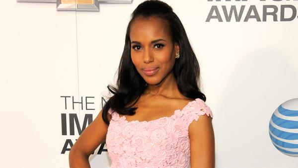 Kerry Washington arrives at the 44th Annual NAACP Image Awards at the Shrine Auditorium in Los Angeles on Friday, Feb. 1, 2013. - Provided courtesy of AP / Chris Pizzello