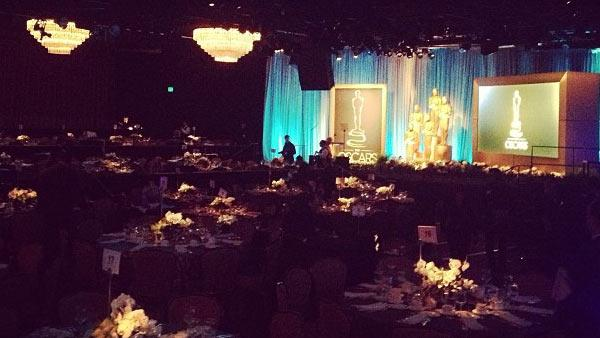 The ballroom of the Beverly Hilton in Beverly Hills California just prior to the Oscar Nominees Luncheon on Feb. 4, 2013, as seen on the Academy of Motion Picture Arts and Sciences Instagram page. - Provided courtesy of instagram.com/p/VUiJxDyUIP/