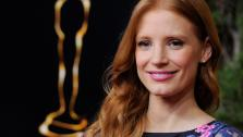 Jessica Chastain arrives at the 85th Academy Awards Nominees Luncheon at the Beverly Hilton Hotel on Monday, Feb. 4, 2013, in Beverly Hills, Calif.