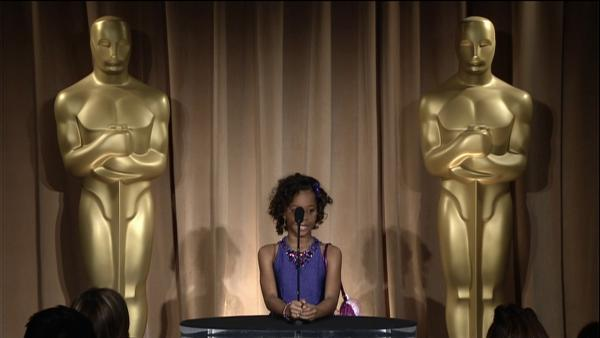 Quvenzhane Wallis talks nomination at the Oscar luncheon