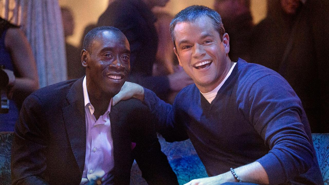 Don Cheadle and Matt Damon appear in a scene from a Feb. 10, 2013 episode of Showtimes House of Lies.