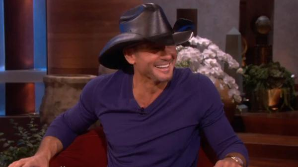 Country singer and actor Tim McGraw appears on The Ellen DeGeneres Show on February 5, 2013. - Provided courtesy of Warner Bros. Television