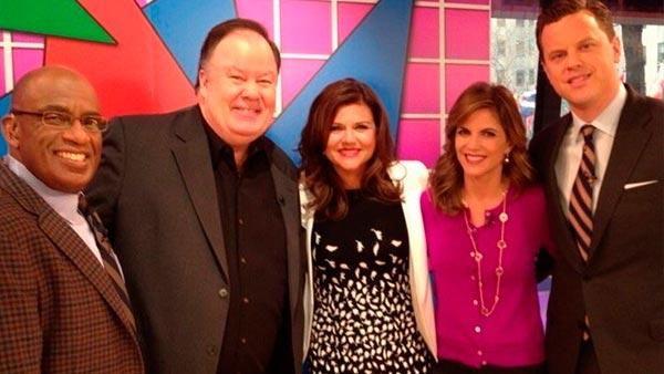 Al Roker, Dennis Haskins, Tiffani Thiessen, Natalie Morales and Willie Geist appear on NBCs Today show on Feb. 5, 2013. - Provided courtesy of twitter.com/mrbelding/status/298814339459190784/photo/1