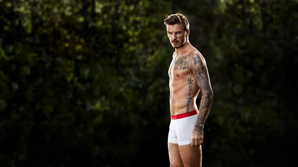 David Beckham appears in a photo for an 2013 H and M underwar ad campaign. - Provided courtesy of H and M