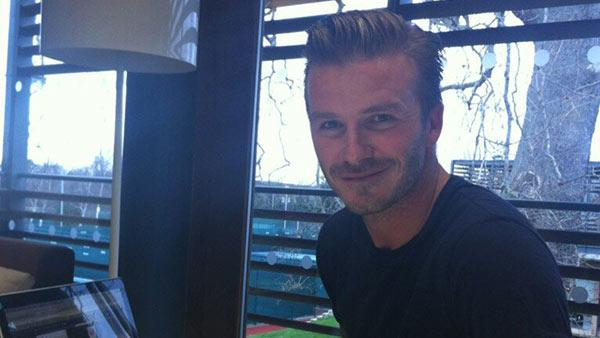 David Beckham chats with fans on Twitter on Feb. 6, 2013. - Provided courtesy of twitter.com/hm/status/299147870949478400