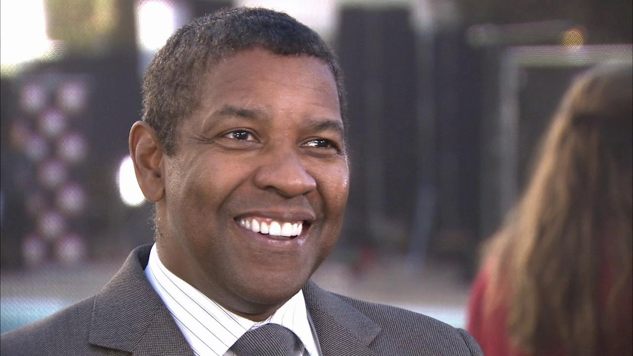 Denzel Washington talks to OTRC at the 85th Academy Awards Nominees Luncheon on February 4 at the Beverly Hilton hotel.