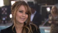 Jennifer Lawrence talks to OTRC at the 85th Academy Awards Nominees Luncheon on February 4 at the Beverly Hilton hotel.