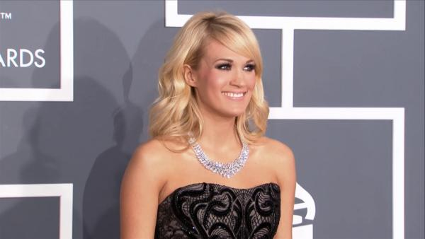 Carrie Underwood wears a $31 million necklace at the 2013 Grammys on Feb. 10, 2013.
