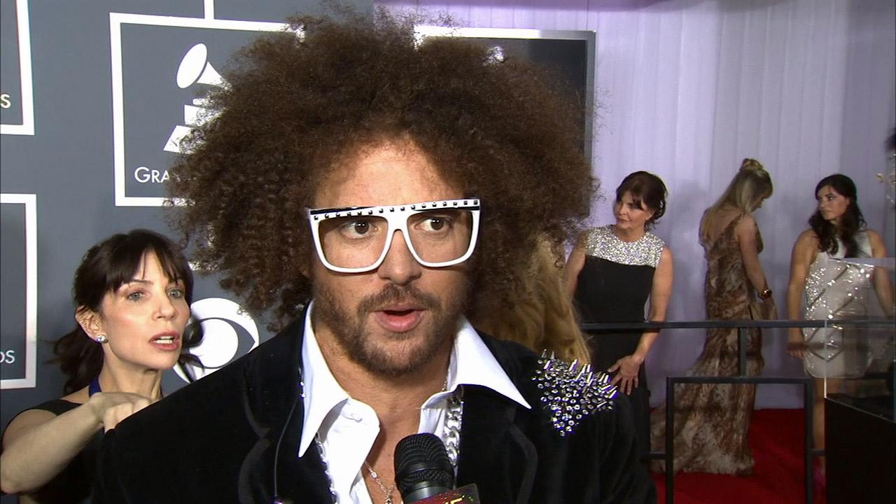 Redfoo talks to OTRC.com at the 2013 Grammys on Feb. 10, 2013.