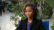 Quvenzhane Wallis talks to OTRC at the 85th Academy Awards Nominees Luncheon on February 4 at the Beverly Hilton hotel.