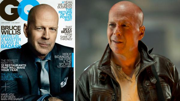 Bruce Willis appears in a scene for the 2013 film, A Good Day to Die Hard. - Provided courtesy of GQ / 20th Century Fox