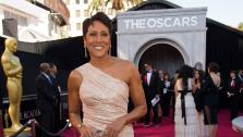 Robin Roberts appears on the red carpet at the 2011 Oscars in Hollywood, California on Feb. 27, 2011.